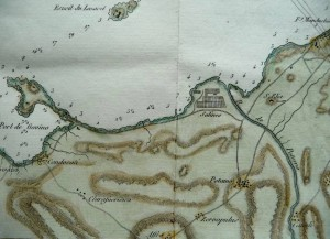 Map 1822 , Gouvia appears as port de Govino.Photo by N.Desillas